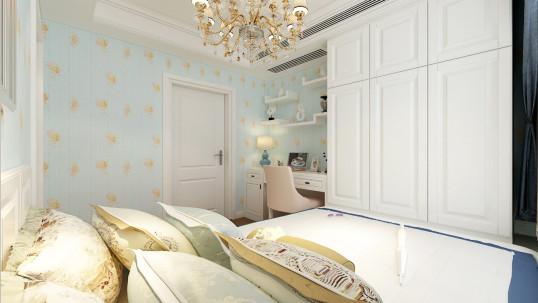 保利华庭欧式古典卧室效果图